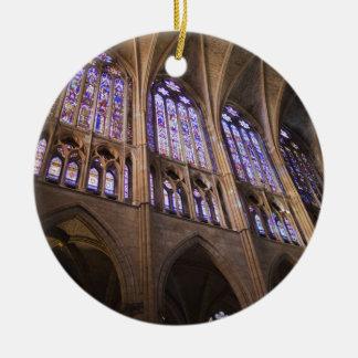 Catedral De Leon, InnenBuntglasfenster Keramik Ornament