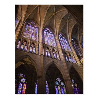 Catedral De Leon, InnenBuntglasfenster Postkarte