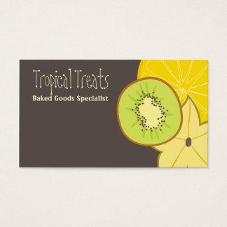 Catering-Backengeschäft Ca der tropischen Frucht Visitenkarte
