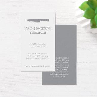 Catering-Geschäftskarten des Kochsmessers Visitenkarte