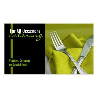 Catering Nahrung Geschäfts-Karte Visitenkarte