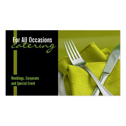 Catering, Nahrung, Geschäfts-Karte Visitenkarte
