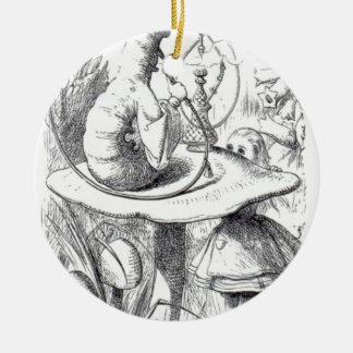 Caterpiller raucht ein Huka an morgens ushrooa Keramik Ornament