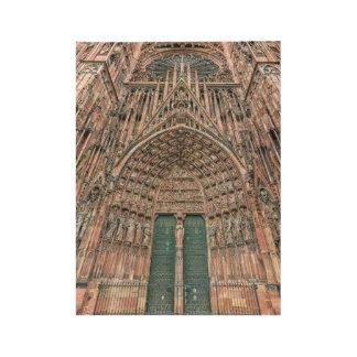 Cathedrale Notre-Dame, Straßburg, Frankreich Holzposter