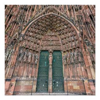 Cathedrale Notre-Dame, Straßburg, Frankreich Poster