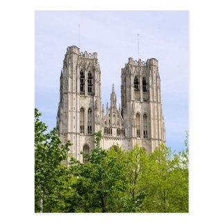 Cathédrale St. Michel u. Gudule - Brüssel, Belgien Postkarte