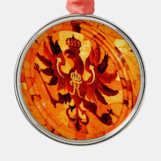 Catherine großer Palast Tsarskoye Selo Rundes Silberfarbenes Ornament