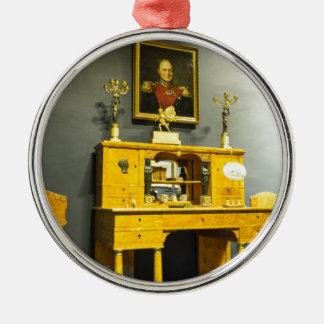 Catherine großes Palast Tsarskoye Selo Büro Rundes Silberfarbenes Ornament