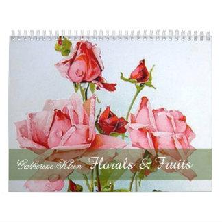 Catherine Klein mit Blumen u. Kalender