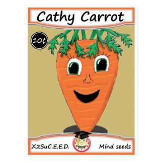 Cathy-Karotten-Samen-Paket 1 Postkarte