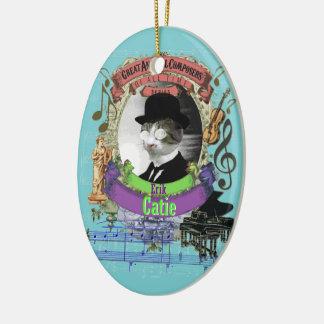 Catie Katzen-Tierkomponist-Erik Satie-Parodie Keramik Ornament