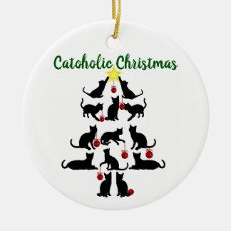 Catoholic Weihnachtsverzierung Keramik Ornament