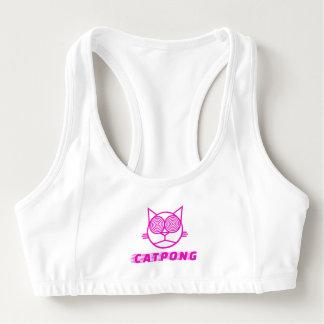 Catpong trägt den BH zur Schau (weiß) Sport-BH