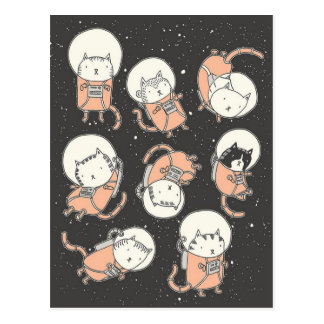 Catstronauts Postkarte