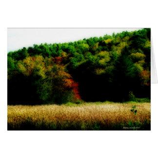 Cattails in Neu-England im Herbst Karte