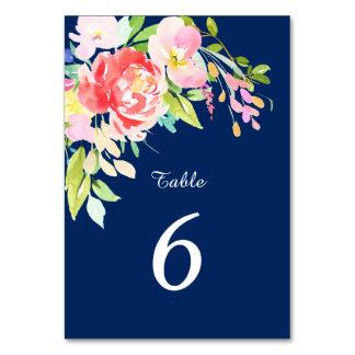 Cattails und Blumen auf Marine-Blau-Hochzeit