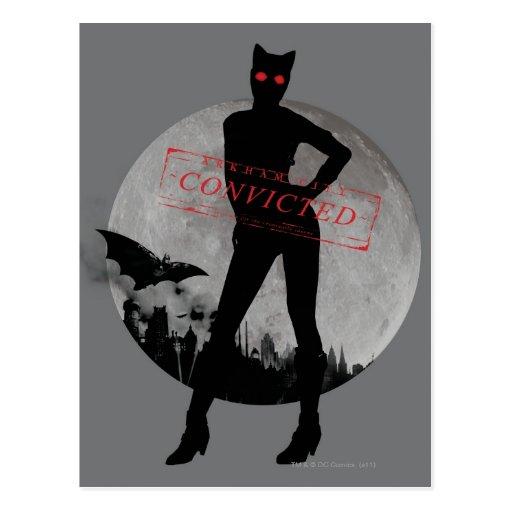 Catwoman überführtes Grau Postkarten