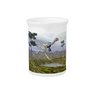 Caudipteryx Dinosaurier - 3D übertragen Krug