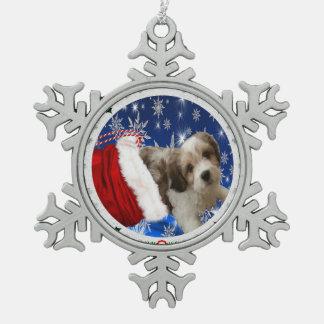 Cavachon Verzierung, Weihnachten Schneeflocken Zinn-Ornament