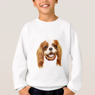 CavalierKingCharlesSpaniel_Epagneul face002 Sweatshirt