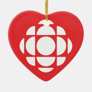 CBC/Radio-Canada Edelstein Keramik Herz-Ornament