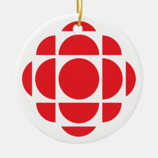 CBC/Radio-Canada Edelstein Rundes Keramik Ornament