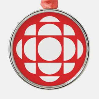 CBC/Radio-Canada Edelstein Rundes Silberfarbenes Ornament