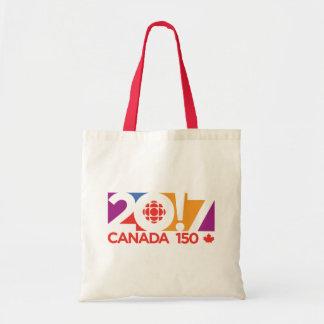 CBC/Radio-Canada Logo 2017 Budget Stoffbeutel