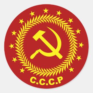 CCCP Hammer-Sichel-Emblem Runder Aufkleber