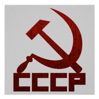 CCCP Hammer u. Sichel Poster