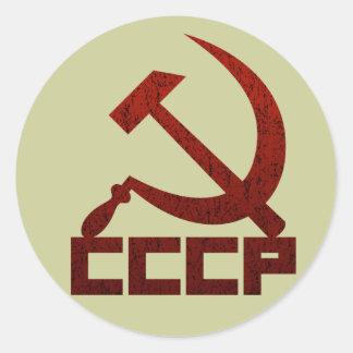 CCCP Hammer u. Sichel Runder Aufkleber