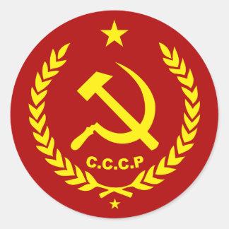 CCCP kommunistisches Hammer-und Sichel-Abzeichen Runder Aufkleber