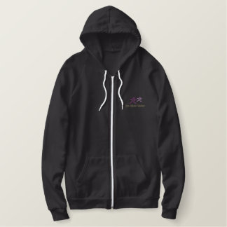 CCS gestickter Sherpa-gesäumter ZipHoodie - Frauen Bestickter Hoodie