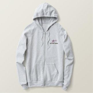 CCS stickte Fleece-ZipHoodie - Männer u. Frauen Bestickter Hoodie