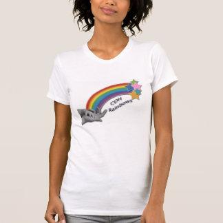 CDH Regenbogen-Damen-lässige Schaufel T-Shirt