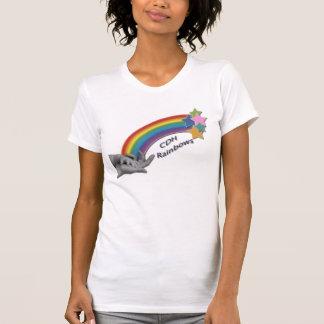 CDH Regenbogen-Damen-Petite T - Shirt