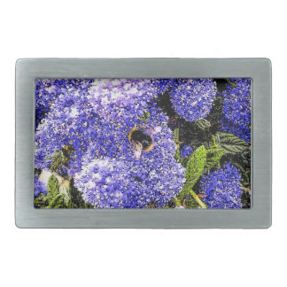 Ceanothus Blumen-Biene Rechteckige Gürtelschnalle