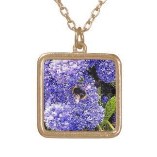 Ceanothus Blumen-Bienen-Fotografie Vergoldete Kette