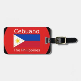 Cebuano Sprache und Philippinen-Flagge Kofferanhänger