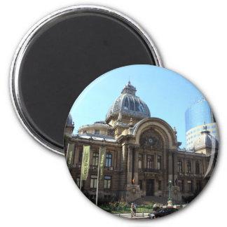 Cec-Palast in Bukarest Runder Magnet 5,7 Cm