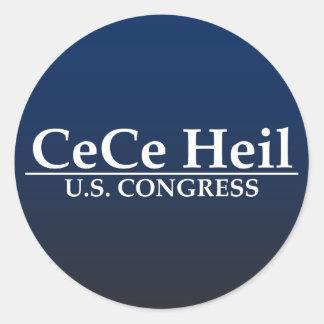 CeCe Heil US Kongreß Runde Aufkleber