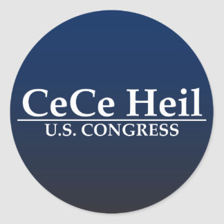 CeCe Heil US Kongreß Runder Aufkleber