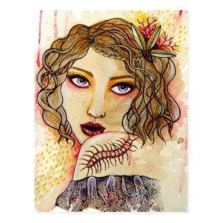 Cecilia und der Hundertfüßer Postkarte