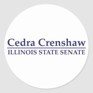 Cedra Crenshaw Illinois Staats-Senat Runder Aufkleber