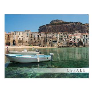 Cefalu Stadt in Sizilien Postkarte