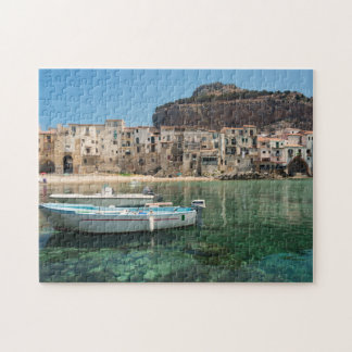 Cefalu Stadt in Sizilien Puzzle