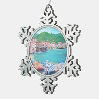 Cefalu - Zinn-Schneeflocke-Verzierung Schneeflocken Zinn-Ornament