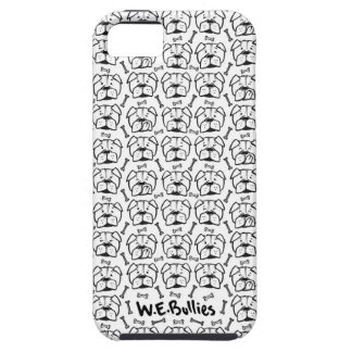 Cell heiratet phone with english Bulldogge pattern iPhone 5 Schutzhülle