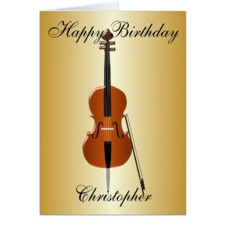 Cello addieren gerade Namensgeburtstag Karte