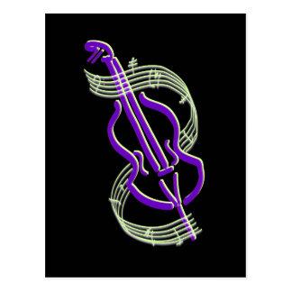 Cello-Entwurf Postkarte